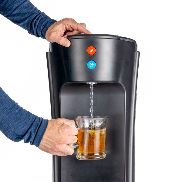 Instant hot water from the Olympia Bottleless water cooler